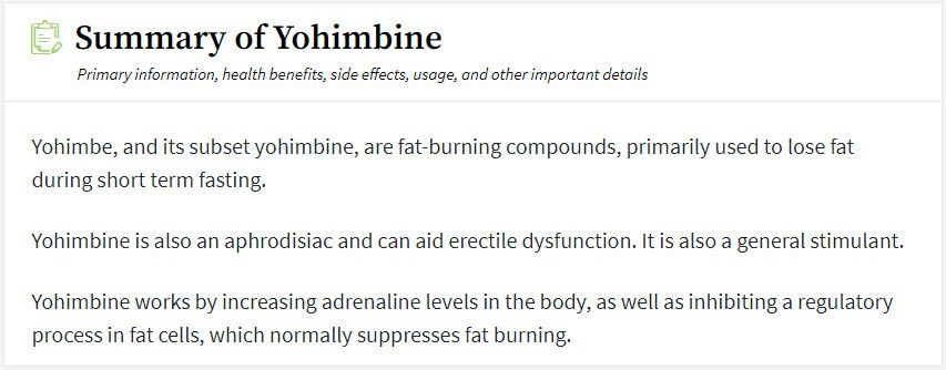 yohimbine valentus thermoperk ingredient
