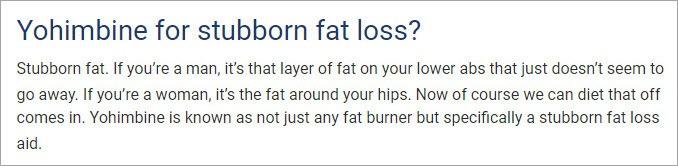 yohimbe for fat loss